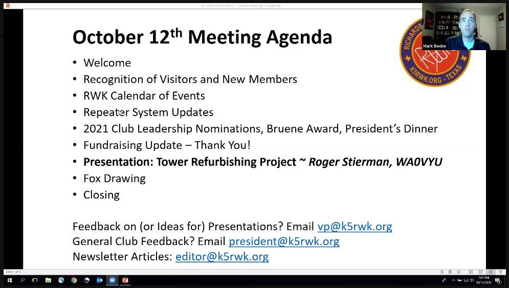 RWK - October 2020 Meeting